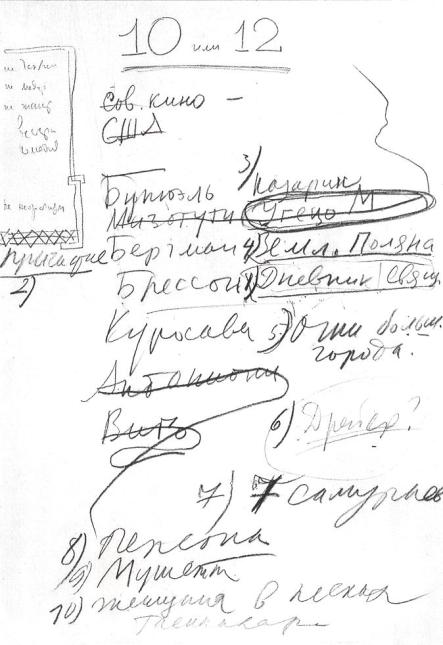 tarkovsky list